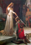 Queen Knighting a man Accolade_by_Edmund_Blair_Leighton